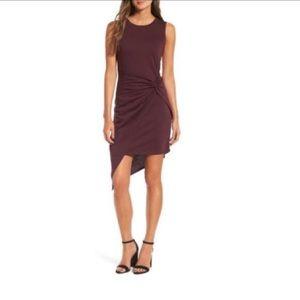 •TROUVÉ• *HP*Twist front asymmetrical dress purple